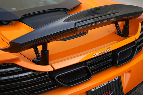 MP4-12c Carbon Fibre RVZ Rear High Level Wing Boot Trunk Spoiler.