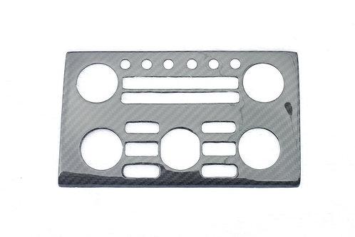 R35 GTR Carbon Fibre Central Control Panel Button Surround Trim Cover.