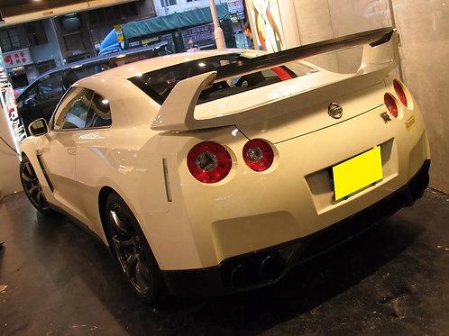 Nissan R35 GTR Full Carbon Fibre Amuse Type High Level Rear Spoiler Wing.
