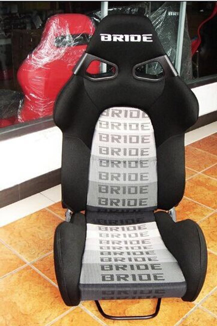 2x Bride CUGA BLACK / GREY Carbon Fibre S Aramid Low Max Reclining Bucket Seats.