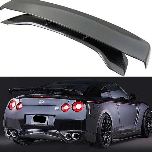 Nissan R35 GTR Full Carbon Fibre Varis Type High Level Rear Spoiler Wing
