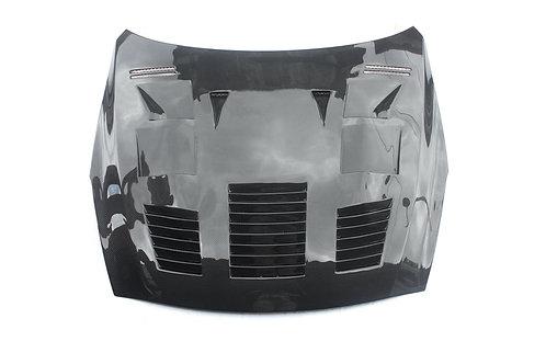 R35 GTR Carbon Fibre DBA GTC Super Attack Scooped and Vented Front Bonnet Hood.