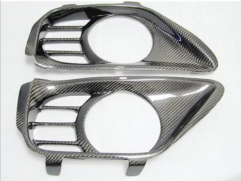 R35 GTR Carbon Fibre MCR Exhaust Surround Inserts In Rear Bumper..