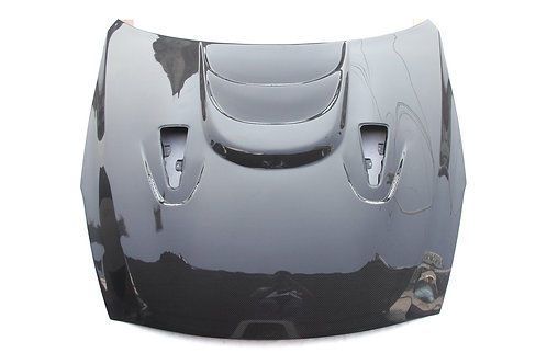 R35 GTR Carbon Fibre DBA MS Scooped and Vented Smooth Front Bonnet Hood.