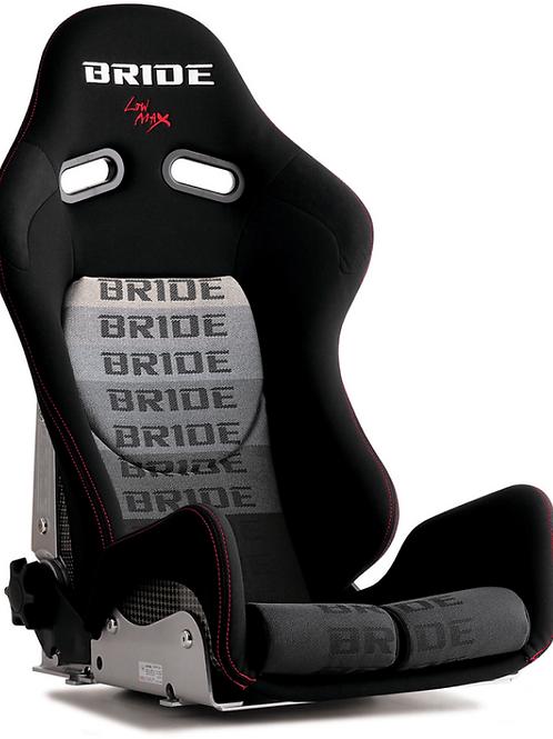 2x Bride Low Max GIAS II BLACK/GREY Carbon Fibre Kevlar Reclining Bucket Seats.