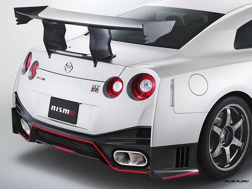 "Nissan R35 GTR Full Carbon Fibre NISMO ""Attack"" Hi-Level Type Rear Spoiler Wing."