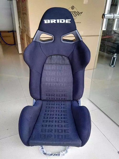 2x Bride CUGA BLACK x2 Carbon Fibre Super Aramid Low Max Reclining Bucket Seats.