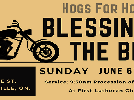 BLESSING OF THE BIKES - NEW DATE: June 6th