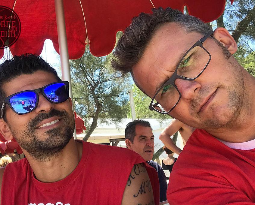 Ettore e Luca, due fra gli organizzatori dell'evento