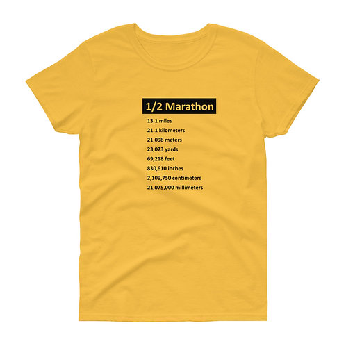 Half Marathon - Women's Short Sleeve T-Shirt