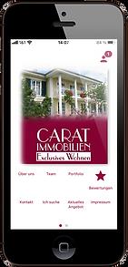 Handy App, Carat Immobilien, Immobilienmakler in Augsburg Stadtbergen
