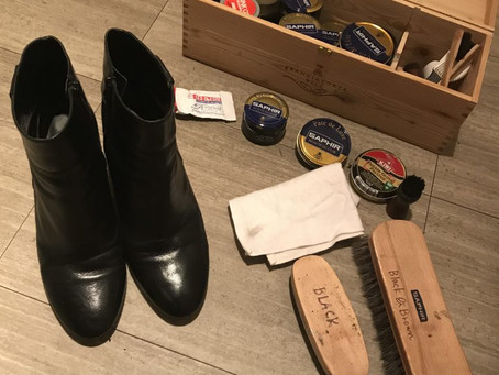 靴を綺麗に履くために。靴磨き〜表革