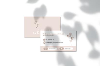 Carte de visite • Les Bijoux de Chloé