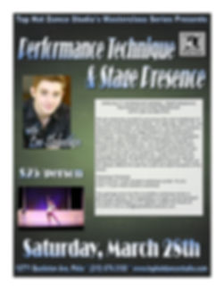 Performance & Stage Flyer (Lee Slobotkin
