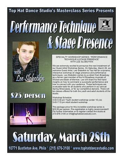 Performance & Stage Flyer (Lee Slobotkin