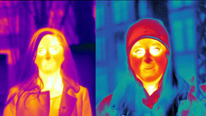 Thermal imaging facial recognition system recognizes faces in the dark