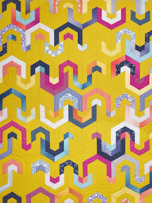 Hive Mind Quilt Pattern (Digital Download)