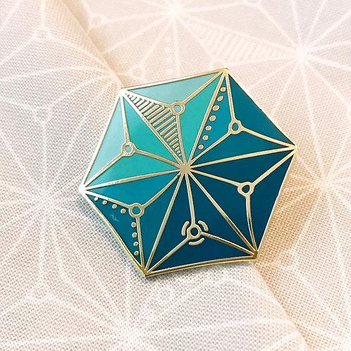 Moongate Enamel Pin