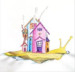 l'escargot et son village