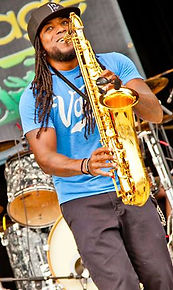 Playing Keys/Sax with Heritage at Chili Vibrations Fest 2015