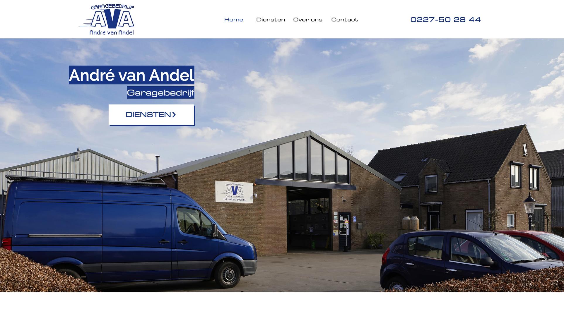 Website Garage André van Andel