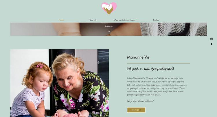 Website Babycoach Marianne