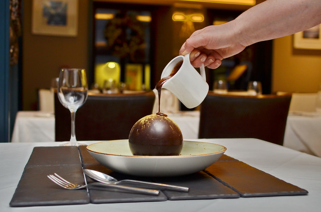 Chocolate-ball-pouring