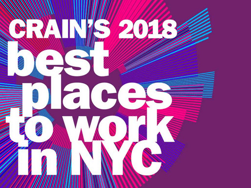 Best Places to Work NYC (2018) Crain's New York Business