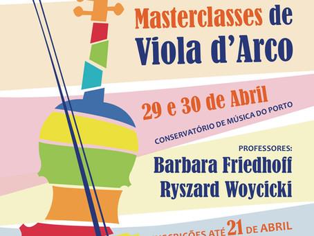 Masterclasses 9º Encontro de Violas d'arco CMP / Matosinhos 2017