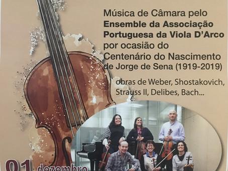 """Concerto de Câmara """"Arte de Música"""", por ocasião do Centenário do Nascimento do poeta Jorge de Sena"""