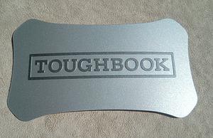 Cheap plastic Toughbook lid label