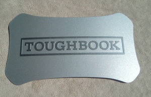 Plastic lid label Toughbook CF-19 CF-30 CF-31