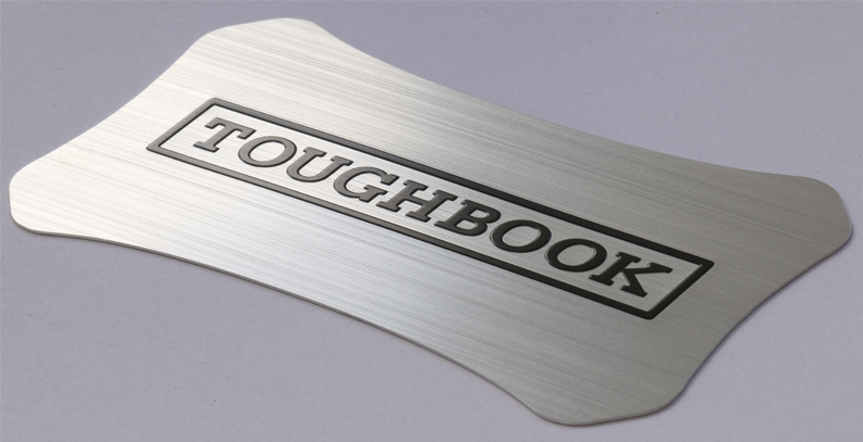 Aluminum Panasonic Toughbook lid label CF-19 CF-30 CF-31