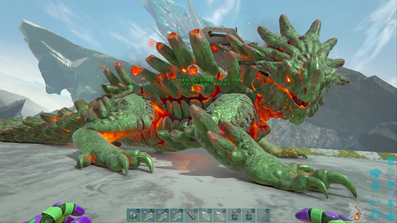 146 Green Female Magmasaur 7770 Health 141 Melee PS4 PVE Official Dedicated Serv