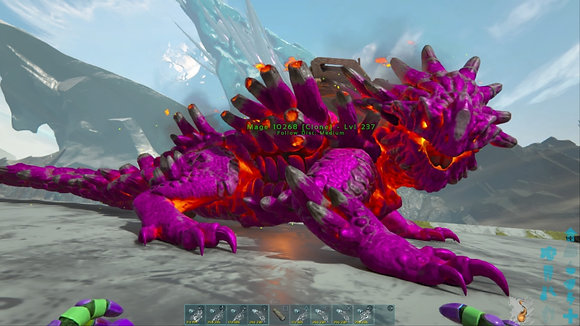 237 Female High Stats Magmasaur 10k Base Health PS4 PVE Official Dedicated Serve