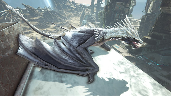 190 Black+White Ice Wyvern Female PS4 PVE OFFICIAL DEDICATED SERVER