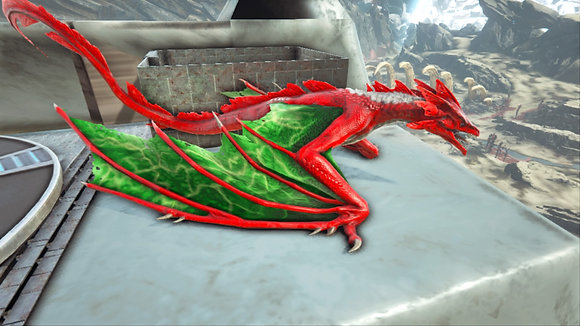 165 Red+Green Lightning Wyvern PS4 PVE OFFICIAL DEDICATED SERVER