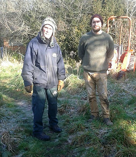 George Head Gardener at Preston Manor with Matt