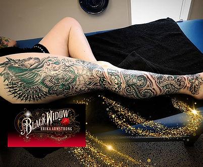Feminine Leg Tattoo by Erika