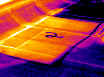 Infrared Roof Moisture Investigation