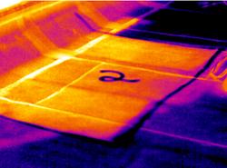 Infrared Roof Moisture Investigation