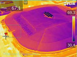 Aerial Infrared Roof Inspection