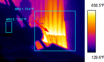 Infrared Boiler/Refractory Investigation