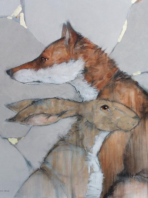 Sylvia Parkinson-Brown    Autumn Fox & Hare
