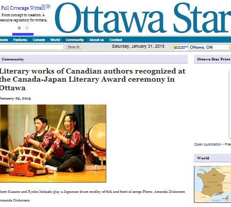 Ottawa Star reports on Musical Journey through Japan