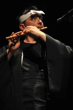 shinobue Japanese flute performance