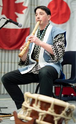 Kokichi Kusano performs Shakuhachi