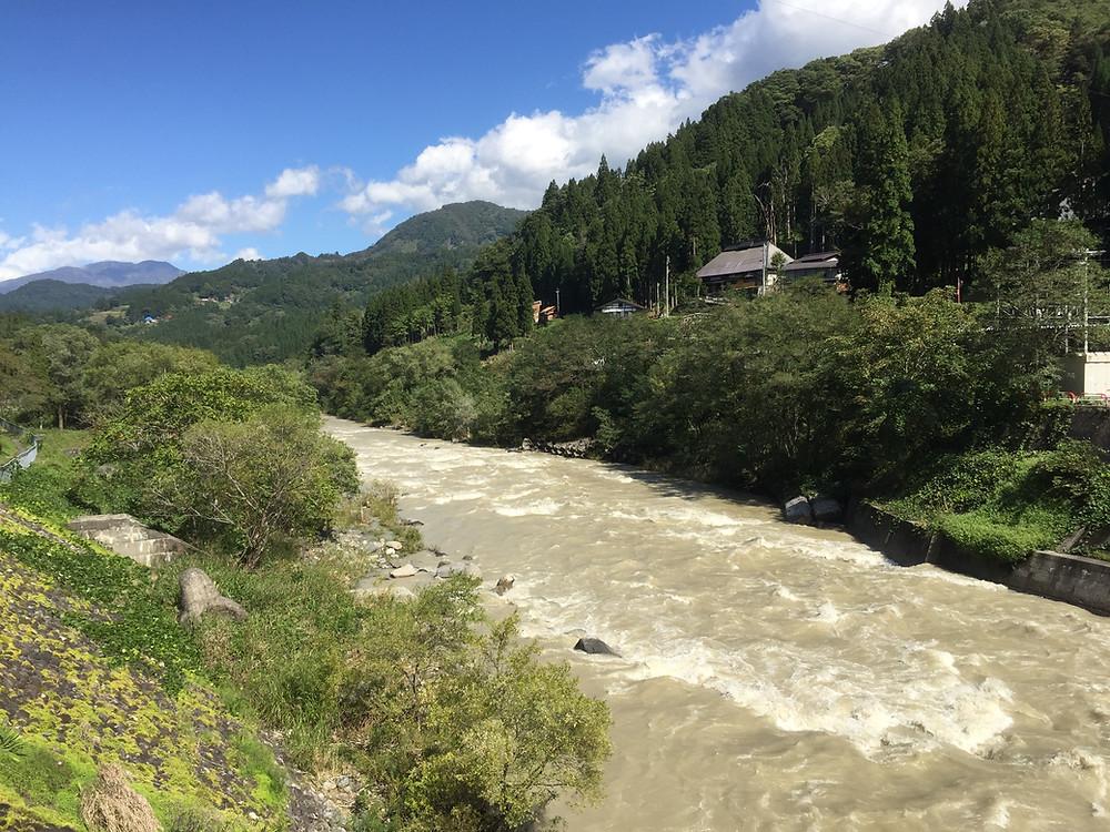 Himekawa river in Otari village 2018
