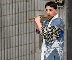 Kokichi Kusano performs shinobue at Mitsuki