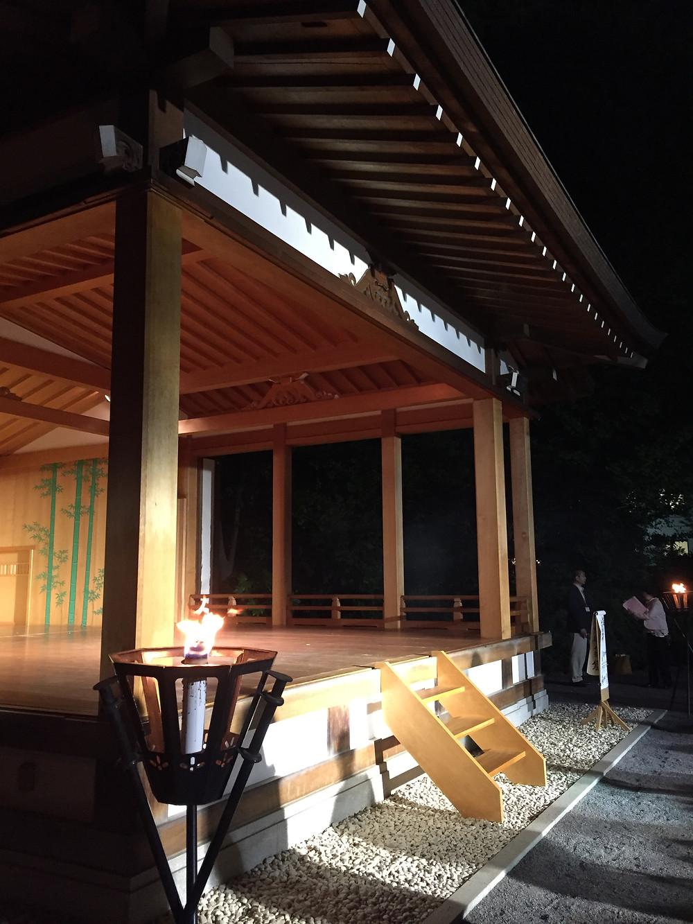 Tokyo Noh performance of Takasago, 2019